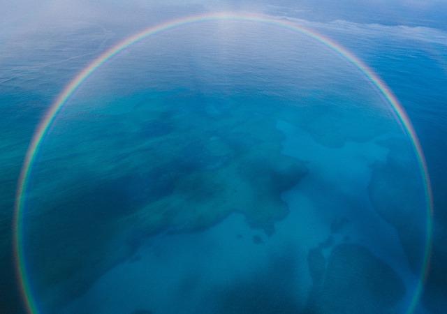 虹が円の形をしていて太陽の周りにでる(丸い虹「ハロ(日暈)」)夢占い