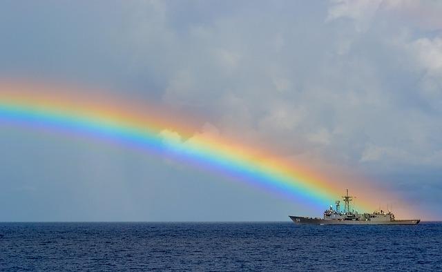 乗り物(車や電車)から虹を見る夢