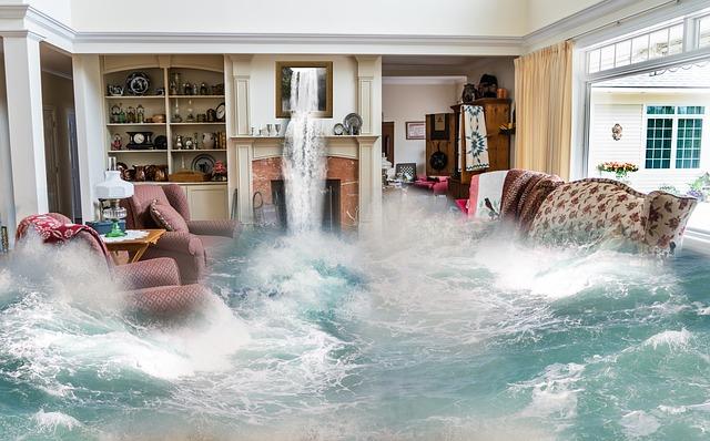 洪水で家が流される(家ごと流される)・家の床下が浸水する夢占い